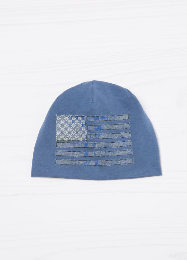 Embroidered cotton beanie cap | OVS