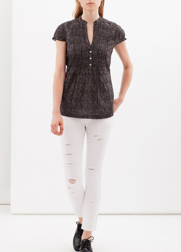 Pleated blouse with lurex | OVS