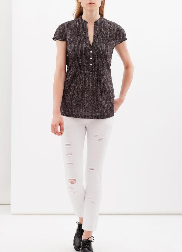 Blusa plissettata con lurex | OVS
