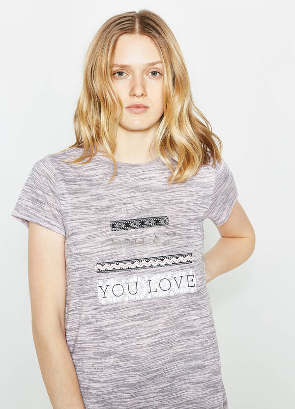 Camiseta de rayas con motivo de texto | OVS