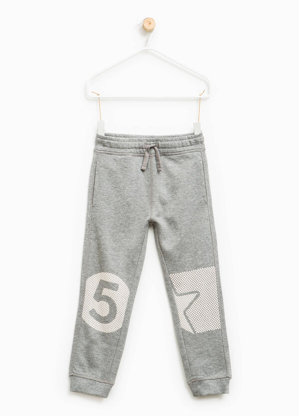 Printed joggers in 100% cotton | OVS