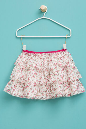 Floral skirt and lace flounces