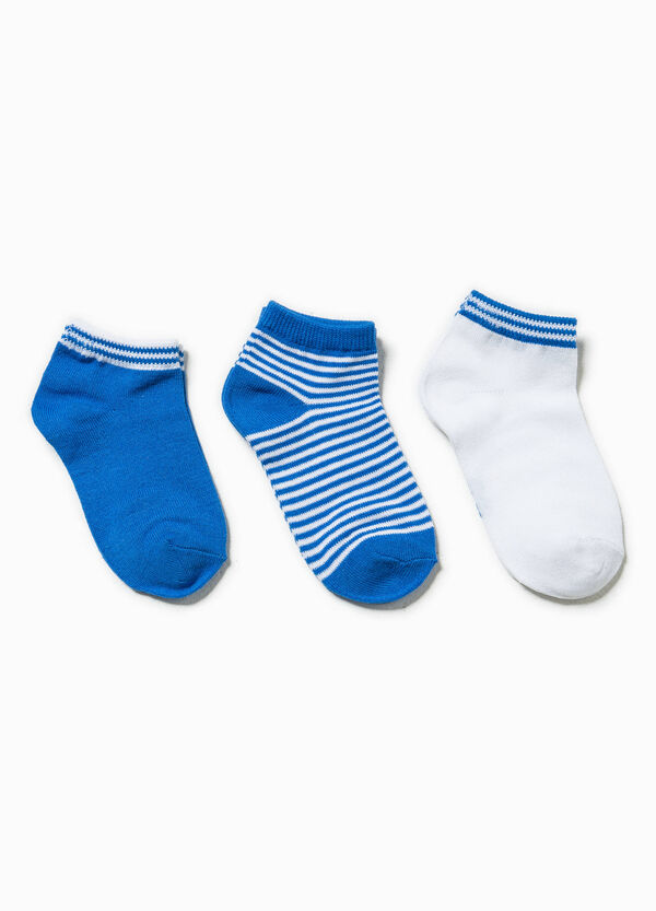 Set tre paia di calze fantasia righe | OVS