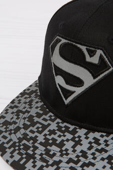 Superman cotton baseball cap, Black, hi-res