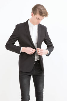 Regular fit tailor-made jacket, Black, hi-res