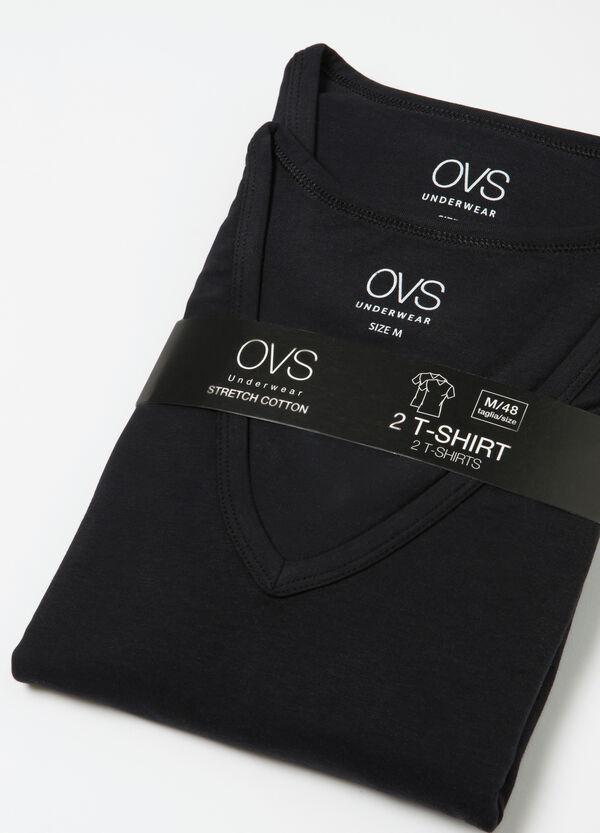 Set due t-shirt intime scollo a V | OVS
