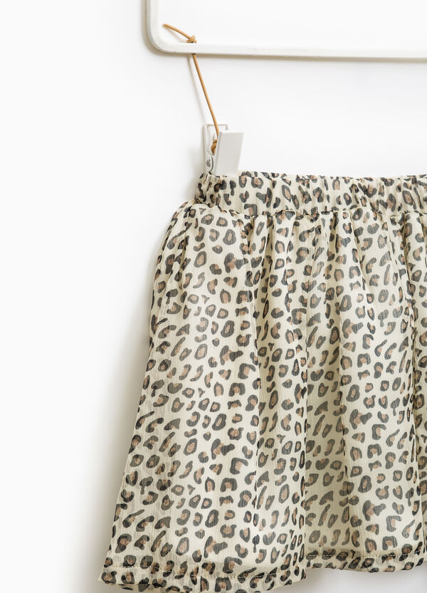 Gonna stampa animalier all-over | OVS