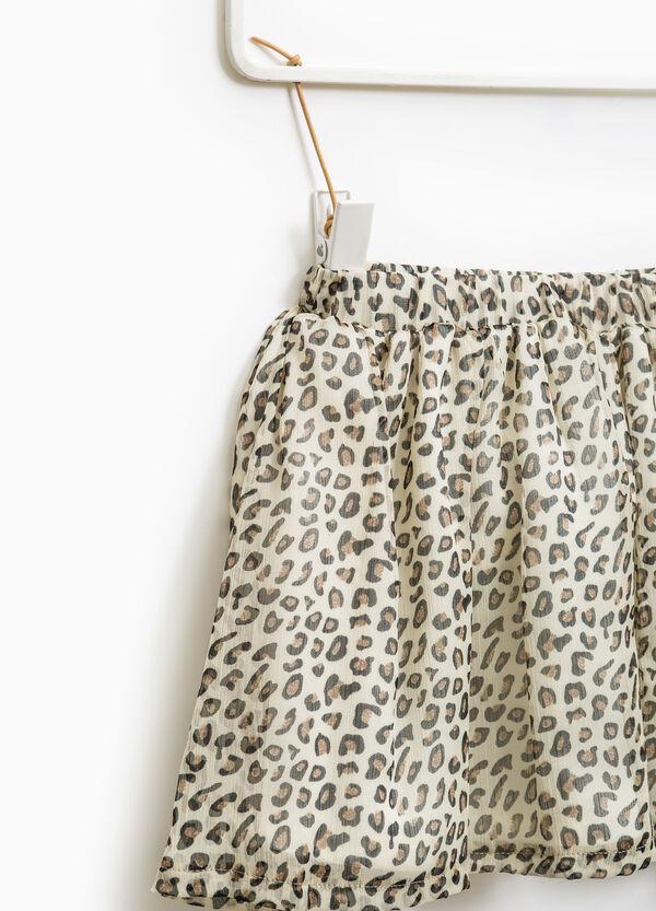 All-over animal print skirt | OVS