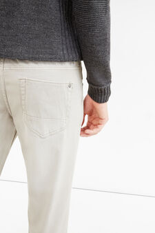 Solid colour skinny-fit trousers, Grey, hi-res