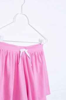 Cotton blend culottes, Pink, hi-res