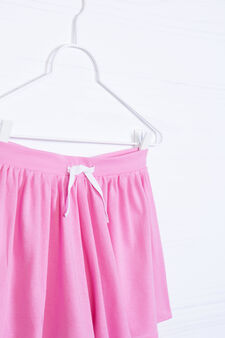 Gonna pantalone misto cotone, Rosa, hi-res