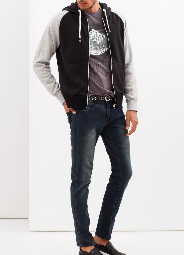 Hoodie with contrasting sleeves | OVS