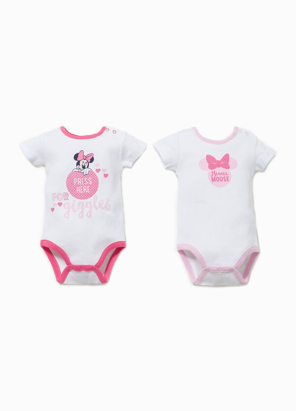 Two-pack bodysuit with Minnie Mouse print | OVS