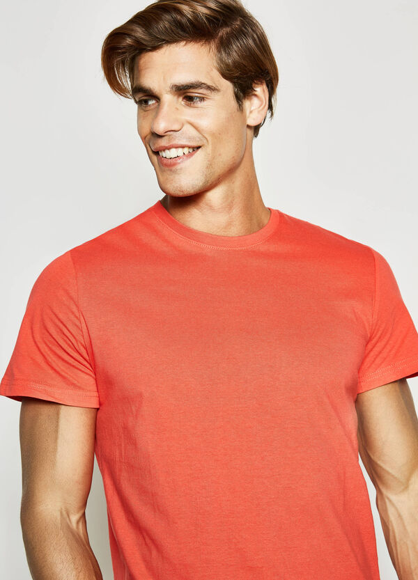 100% cotton T-shirt with crew-neck | OVS