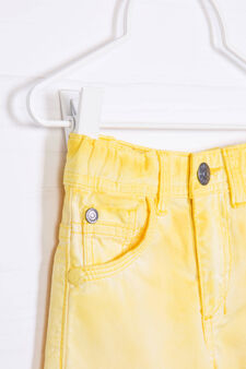 100% cotton misdyed shorts, Yellow, hi-res
