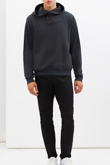 Hoodie with toggles, Blue, hi-res
