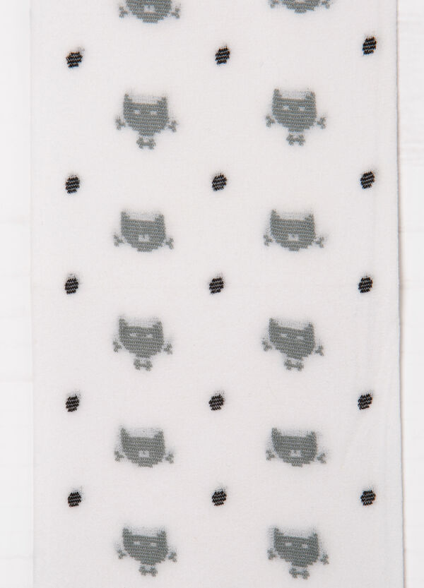 Tights with cats and polka dot pattern   OVS
