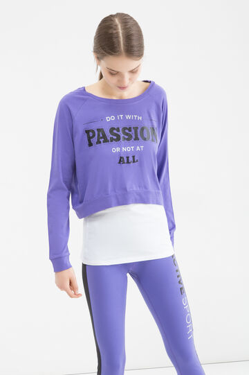 Sports T-shirt with sewn in top, Purple, hi-res
