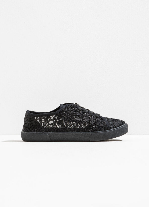 Semi-sheer lace sneakers | OVS