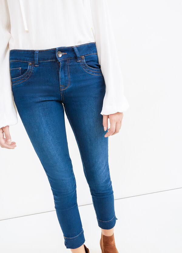 Slim fit stretch jeans with five pockets | OVS