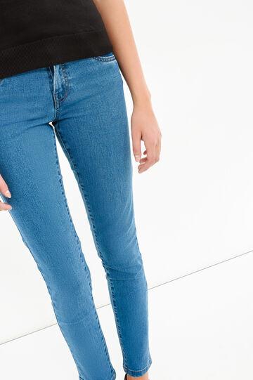 Jeans stretch skinny fit tinta unita, Lavaggio medio, hi-res