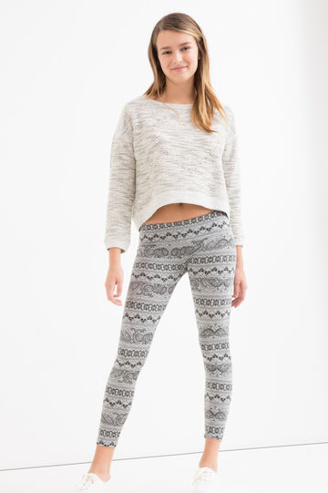 Leggings stampa cotone stretch Teen