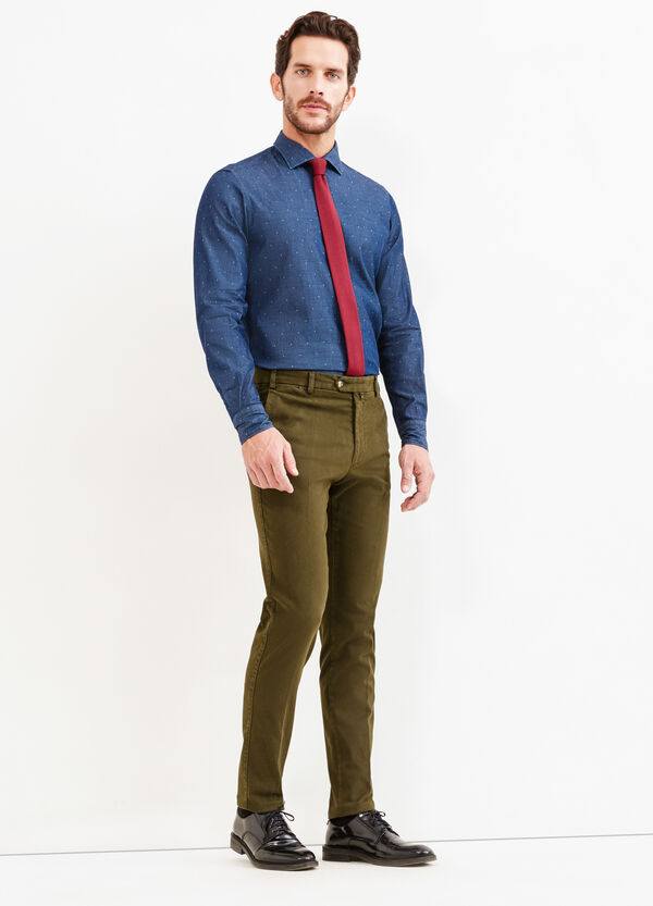 Slim-fit Rumford shirt with pattern | OVS