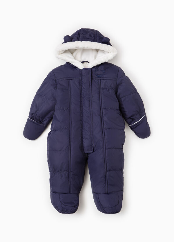 Quilted onesie with feet and mittens. | OVS