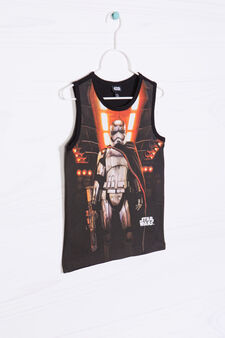 Star Wars printed cotton vest top, Black, hi-res