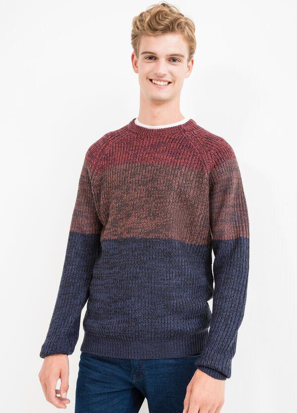 Pullover tricot fantasia a righe | OVS
