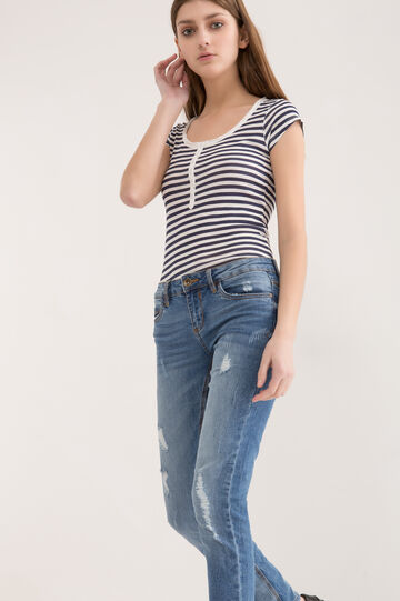Slim-fit stretch jeans, Medium Wash, hi-res
