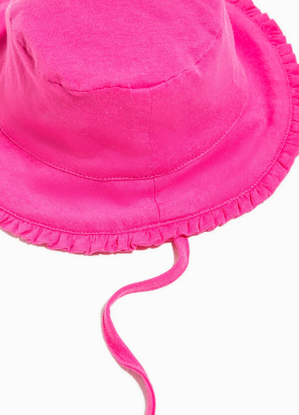 Wide-brimmed hat with flounce | OVS