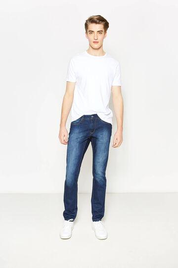 Slim fit, washed-effect jeans, Denim, hi-res