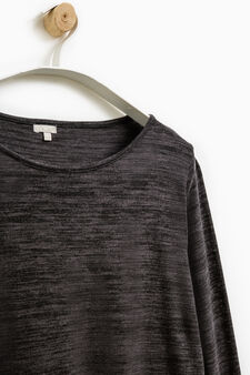 Smart Basic long-sleeved dress, Black/Grey, hi-res