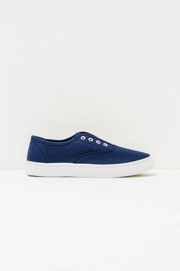 Slip-on shoes with contrasting sole, Navy Blue, hi-res