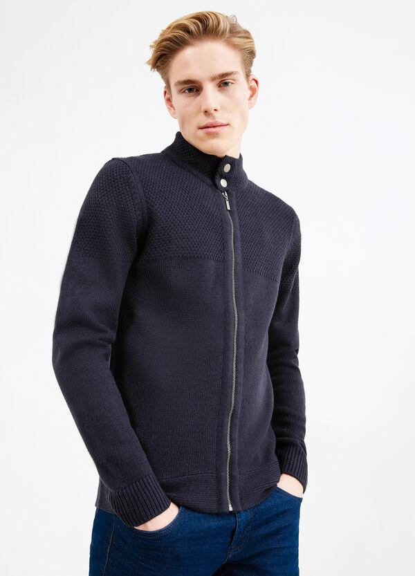 Cardigan misto lana tricot collo alto | OVS