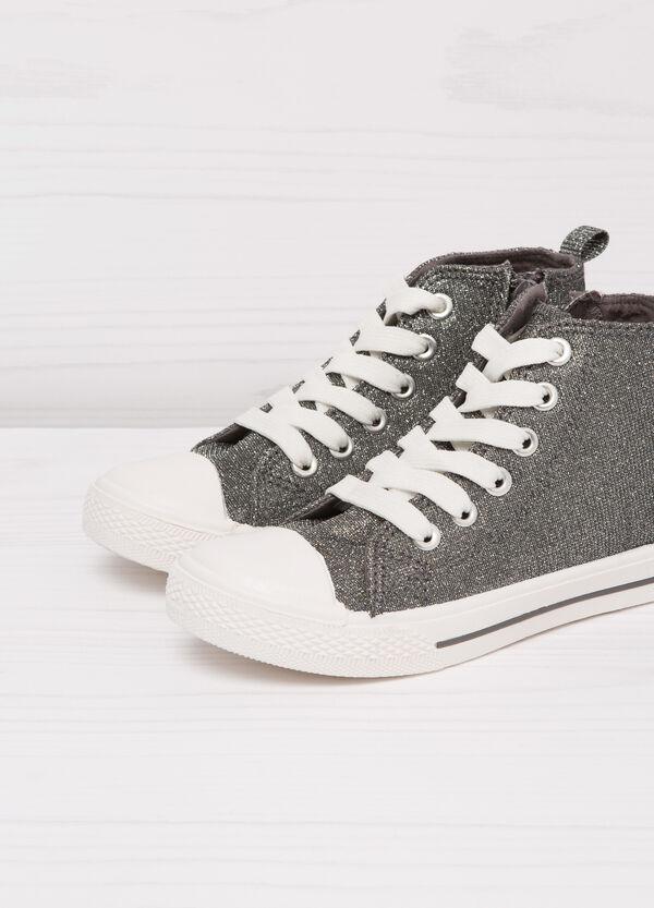 Sneakers alte con lurex e zip | OVS