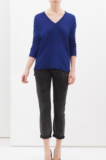 Pullover misto cashmere e seta, Blu bluette, hi-res