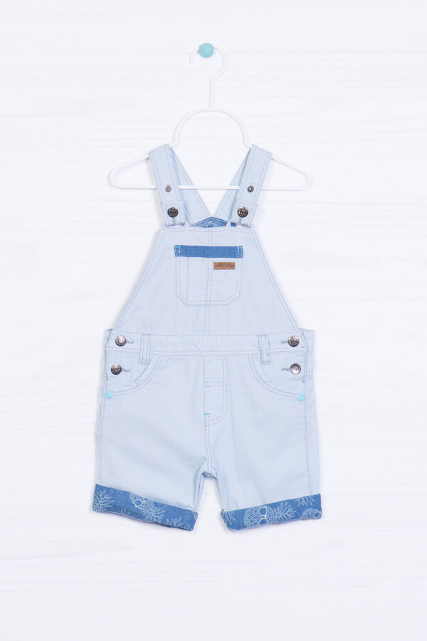 100% cotton dungarees with breast pocket | OVS