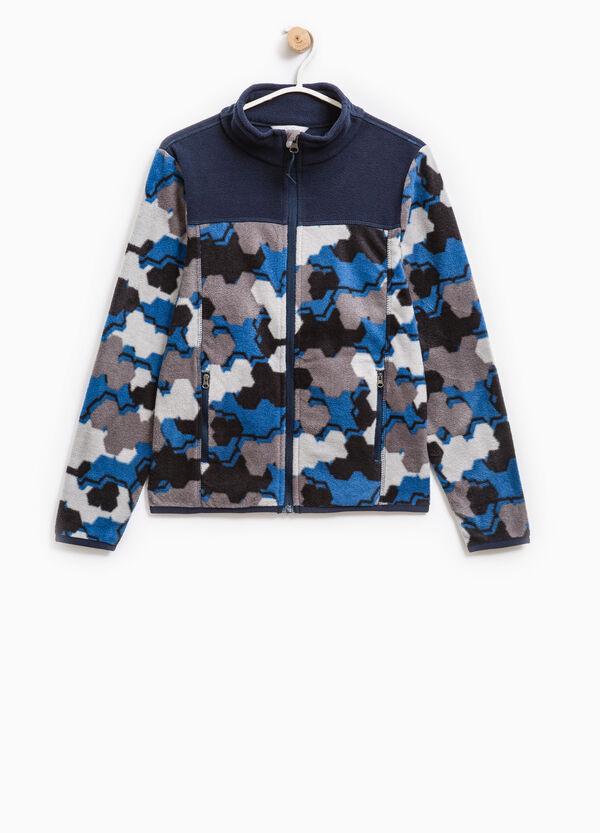 Fleece sweatshirt with camouflage pattern | OVS