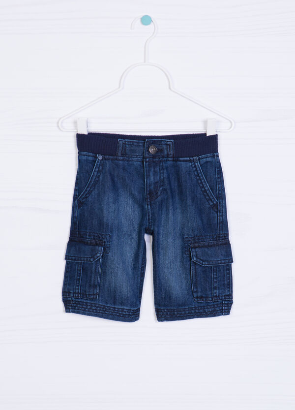 Worn-effect denim shorts | OVS