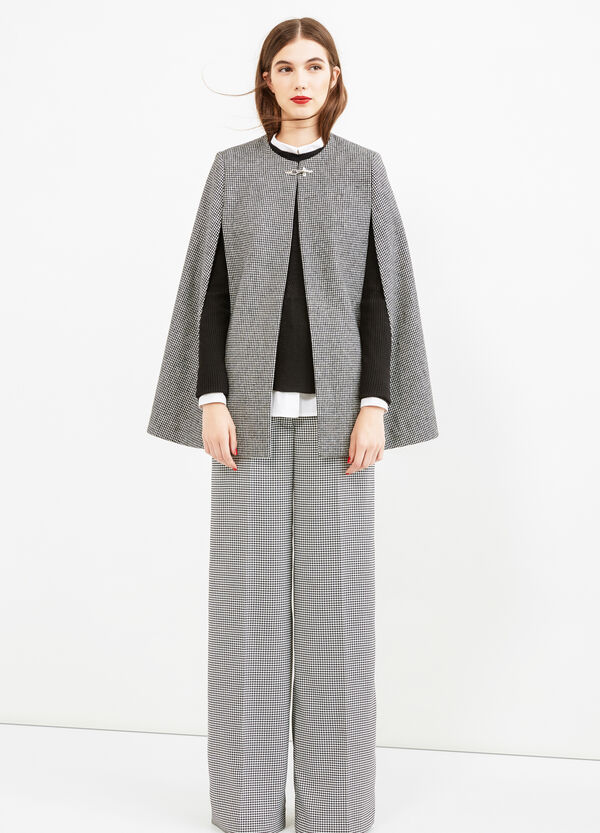 Hounds' tooth cape | OVS
