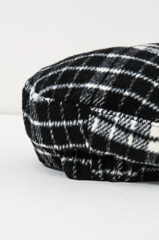 Check pattern flat cap., Black/White, hi-res