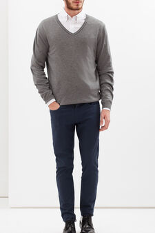 Rumford wool-viscose blend pullover, Light Grey, hi-res