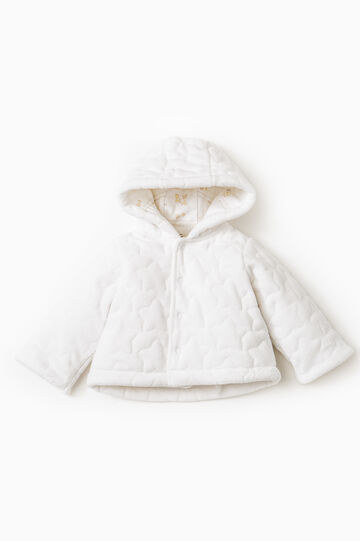 Quilted jacket with hood, White, hi-res