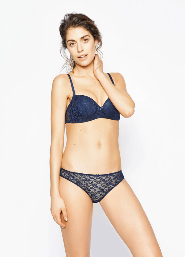 Stretch lace briefs with bow | OVS