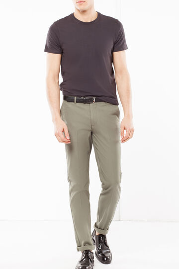 Embossed pattern pants, Army Green, hi-res