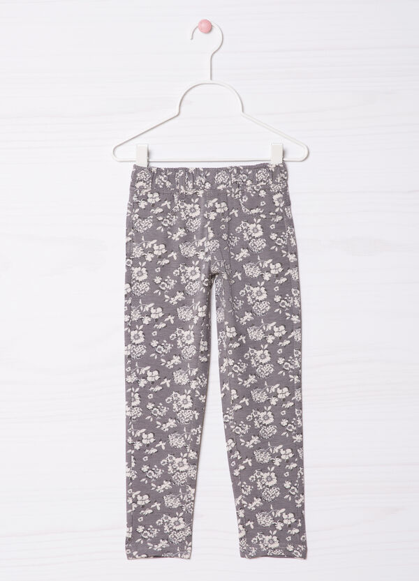 Floral print jeggings | OVS