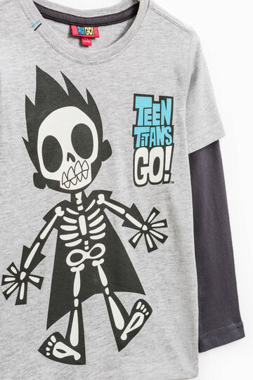 T-shirt with maxi Teen Titans print, Black/Grey, hi-res