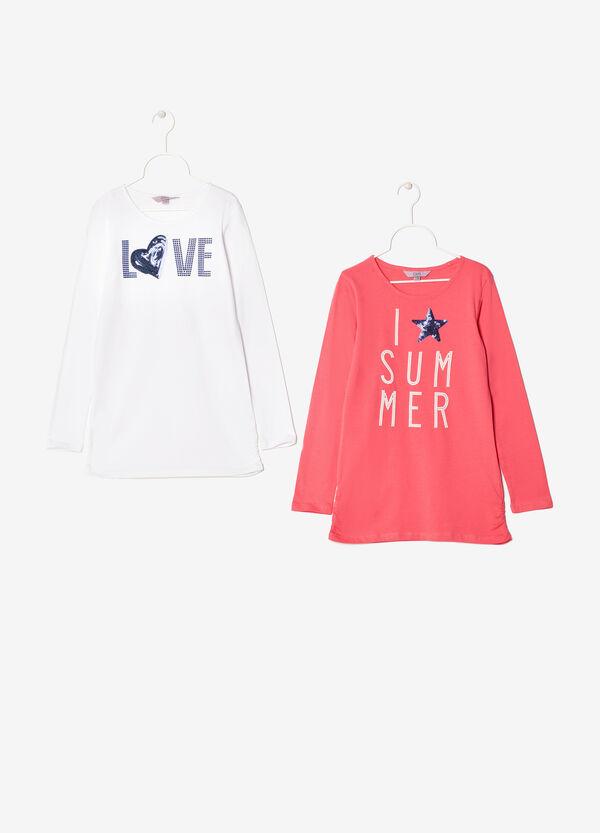 Two-piece cotton T-shirts set | OVS